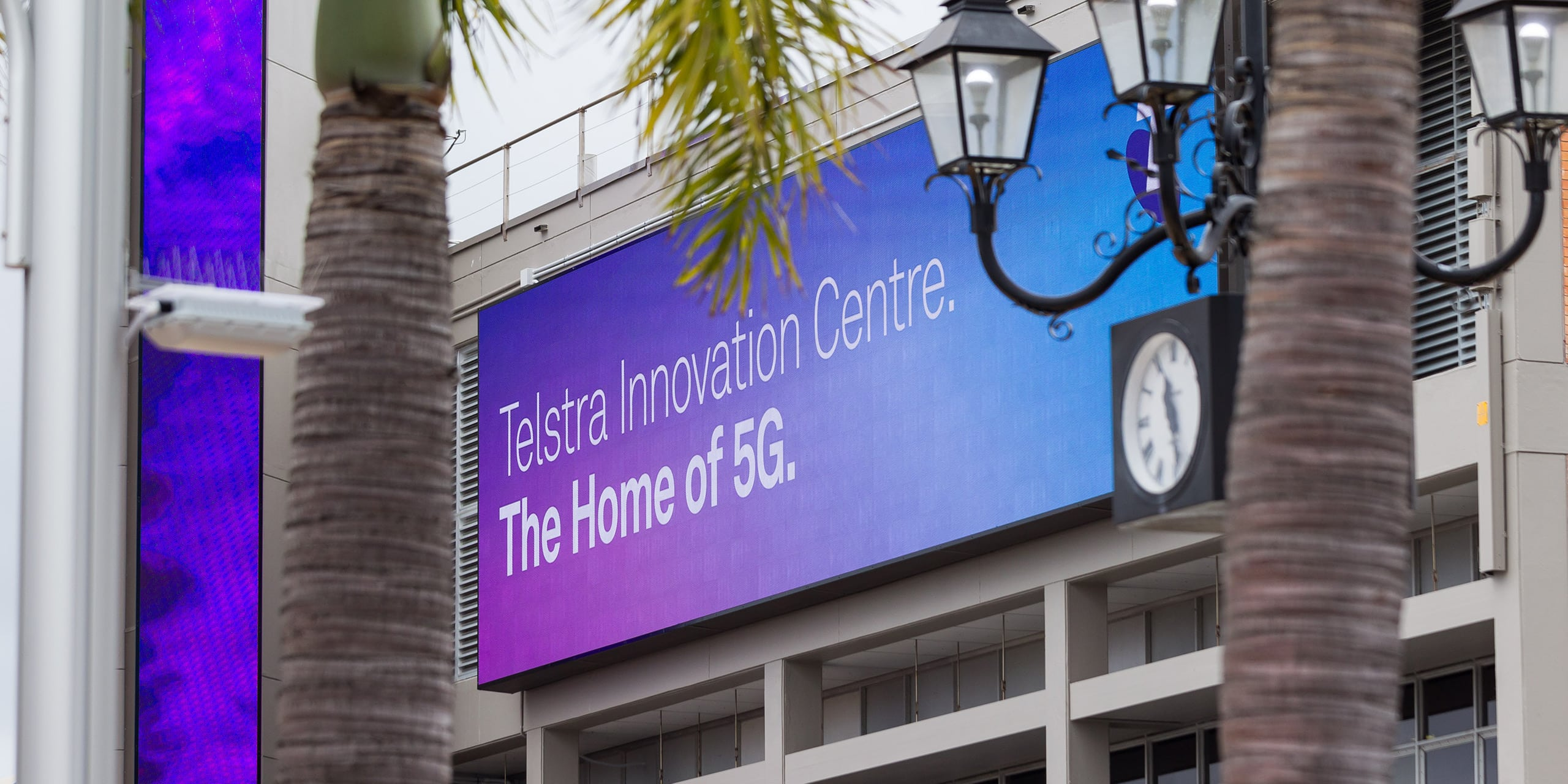 Telstra 5G innovation Centre billboard