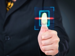 Security thumb print