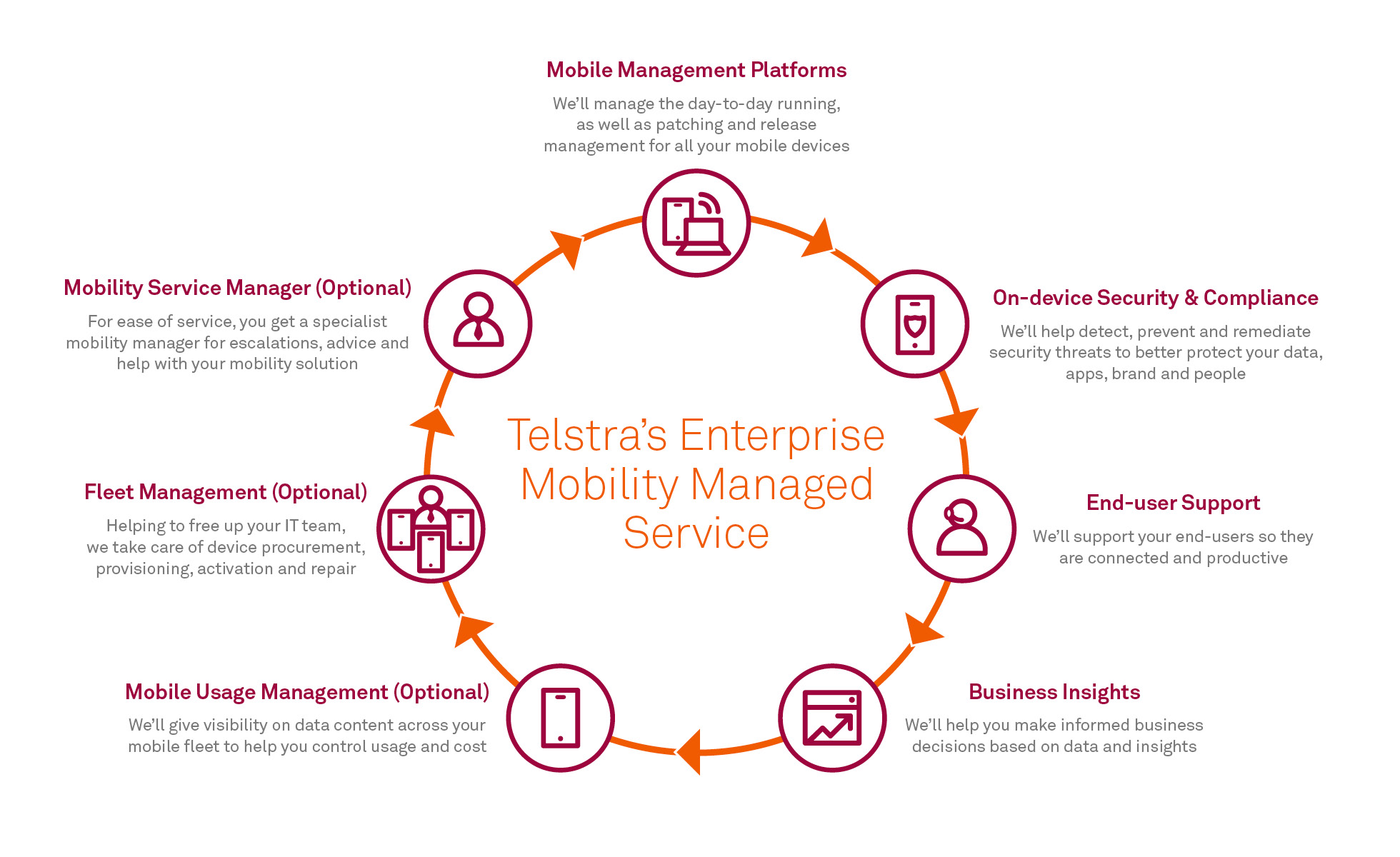 Telstra's enterprise mobility managed service