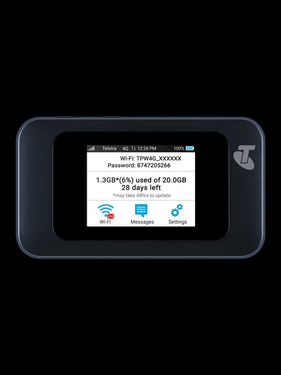 Telstra Telstra 4GX Hotspot Blue front view
