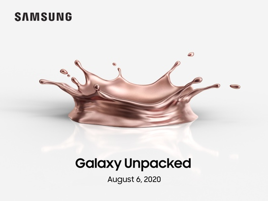 Samsung Galaxy unpacked August 6, 2020