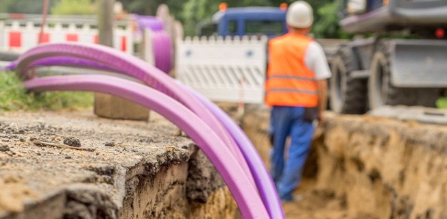 Fibre optic cables being installed as part of the nbn rollout