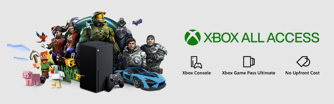 An Xbox Series X console with a montage of characters from popular video games.