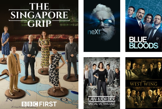 Shows in Foxtel Now's Drama Extra pack include The Singapore Grip, Blue Bloods and Law & Order.