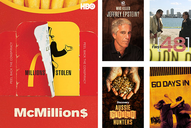The Foxtel Now Documentaries pack includes McMillions, Who Killed Jeffery Epstein? and 60 Days In