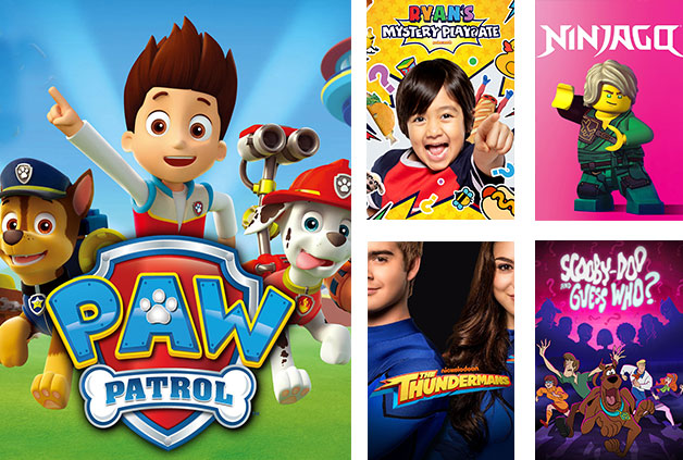The Foxtel now Kids pack includes Paw Patrol, Ryans Mystery Playdate and Ninjaga.