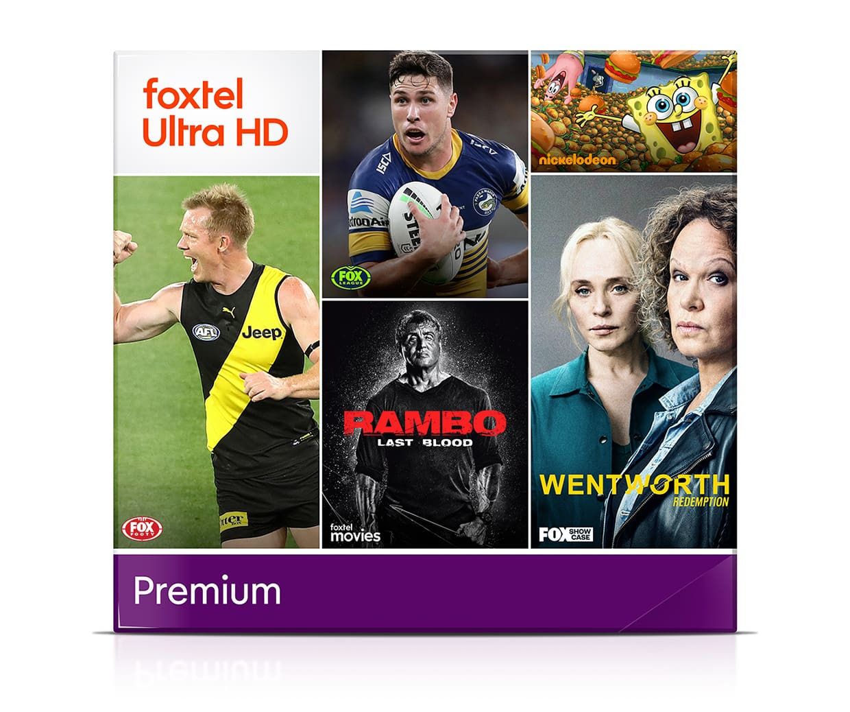 Watch sports, movies, kids shows and over 50 channels of entertainment with Premium