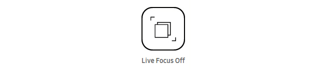 Live focus off shows two boxes.
