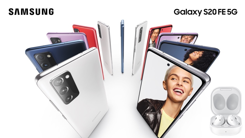 Samsung Galaxy s20 FE 5G comes in a range of colours