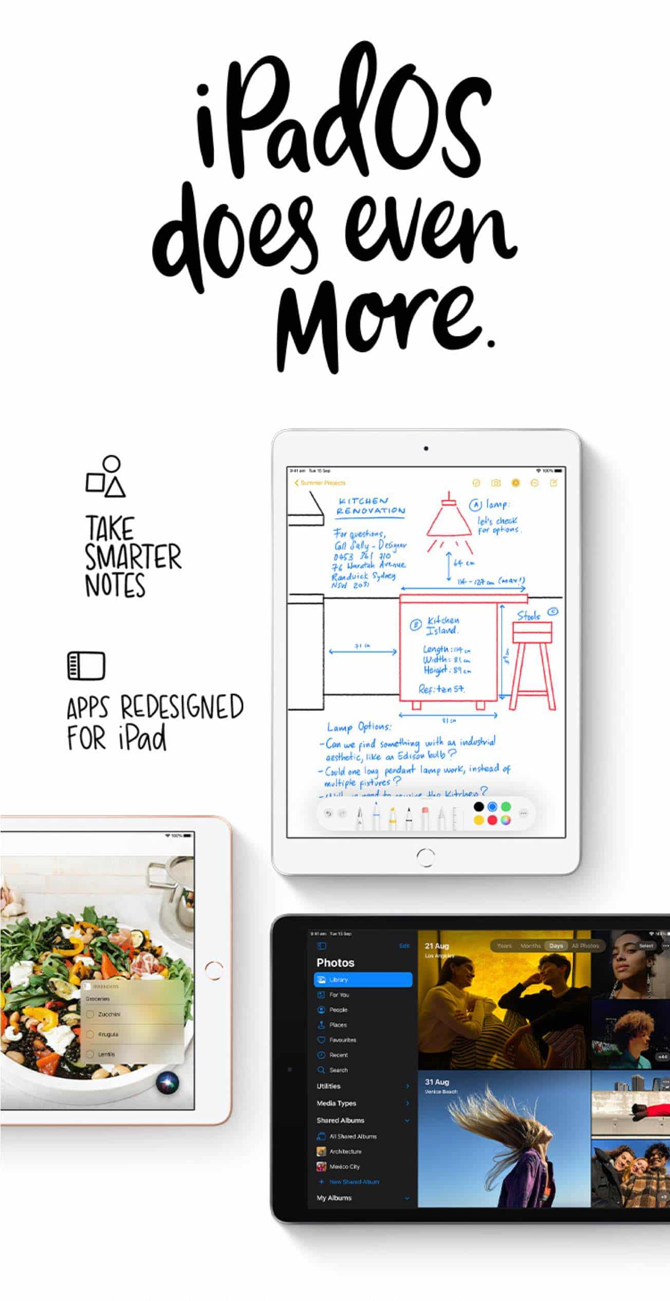 Take smarter notes and with apps redesigned for iPad