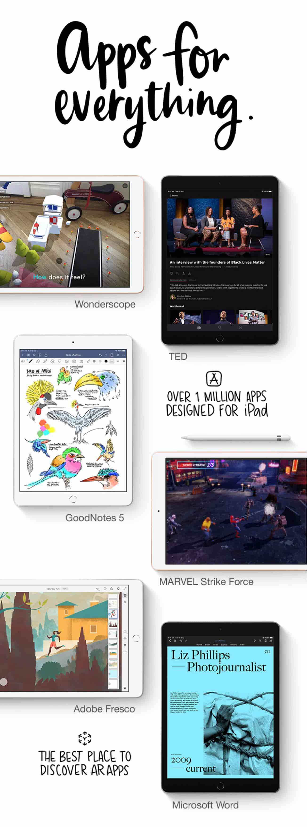 Over 1 million apps designed for iPad