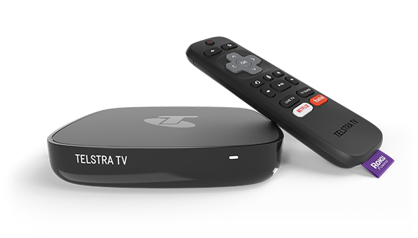 Telstra TV with remote control