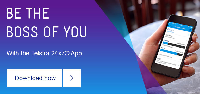 Be the boss of you with the Telstra 24x7 app