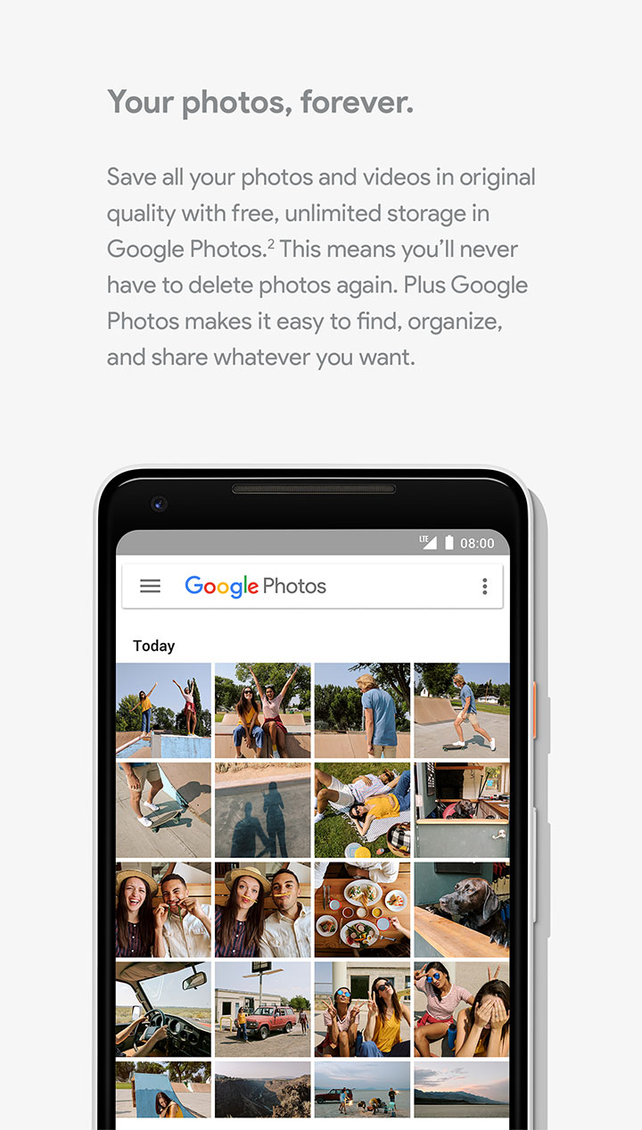 Google Phone - Your photos forever.