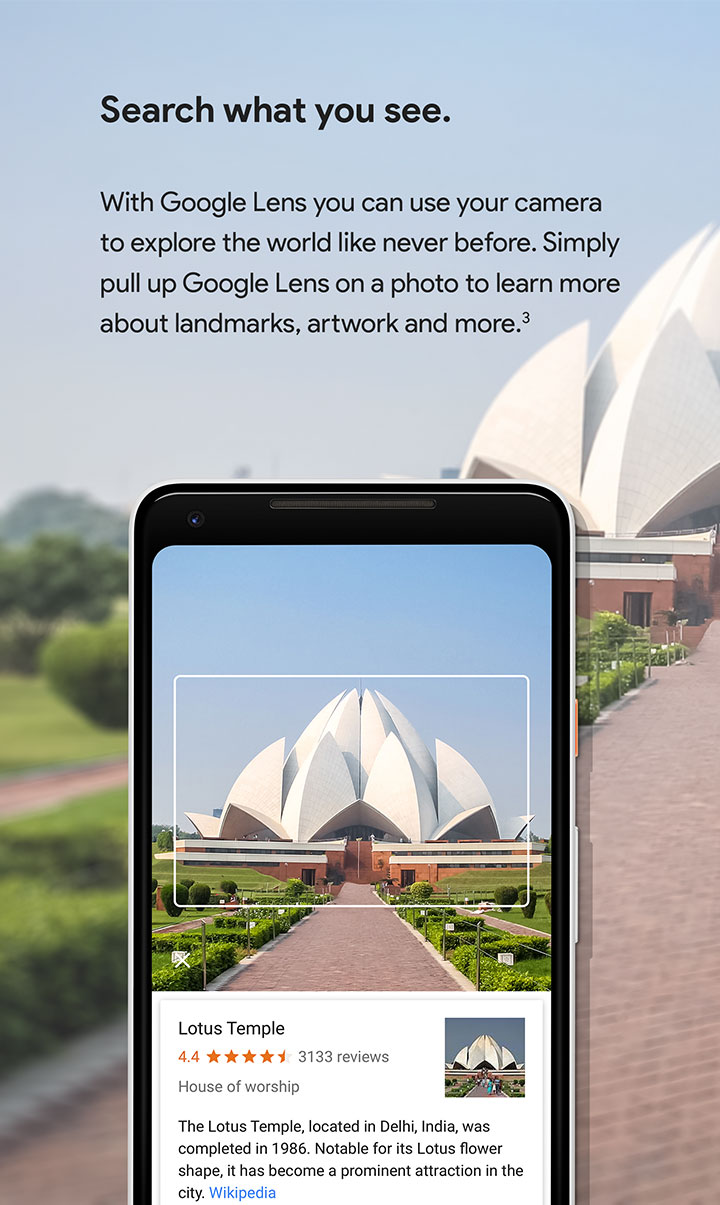Pixel 2 - Search what you see with Google Lens