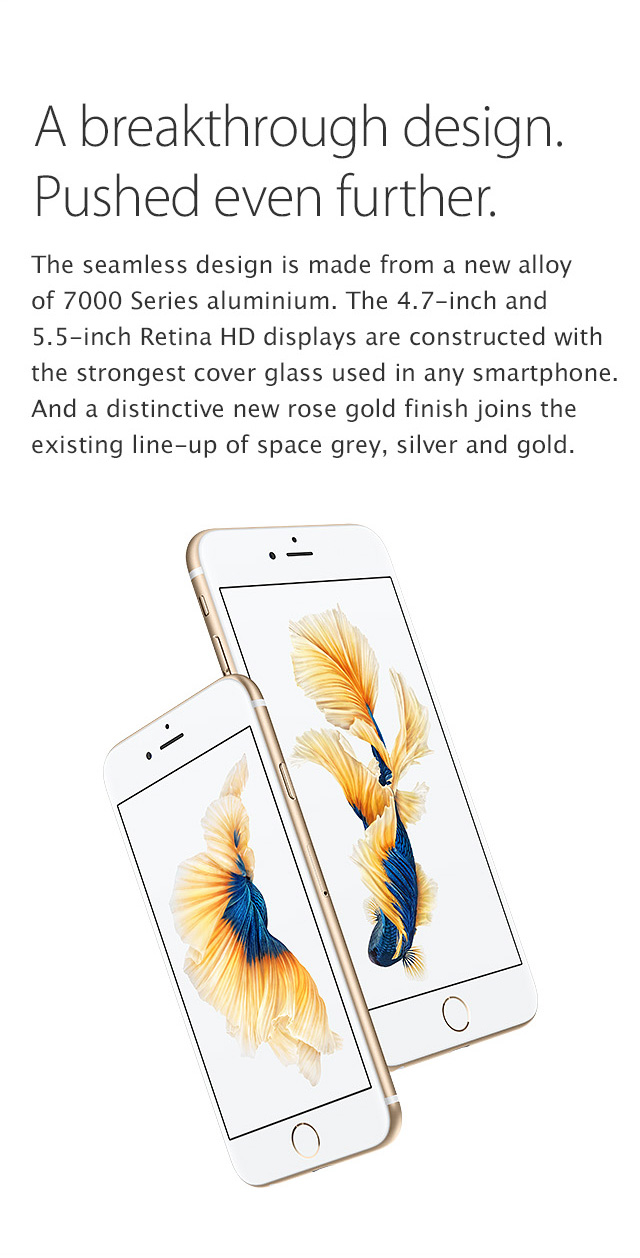 iPhone 6s Plus, A breakthrough design. Pushed even further.