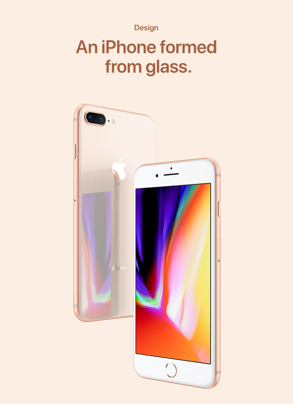 iPhone 8 & 8 Plus - Design - An iPhone formed from glass