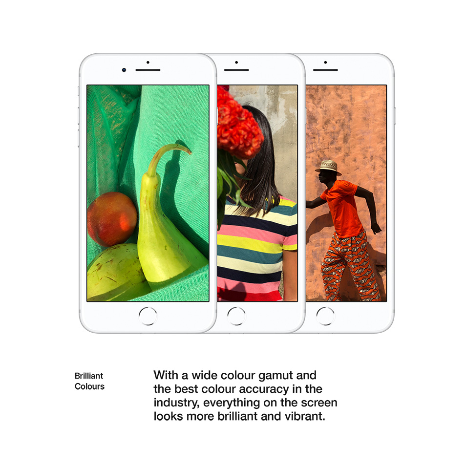 iPhone 8 - Retina HD Display - Brilliant Colours