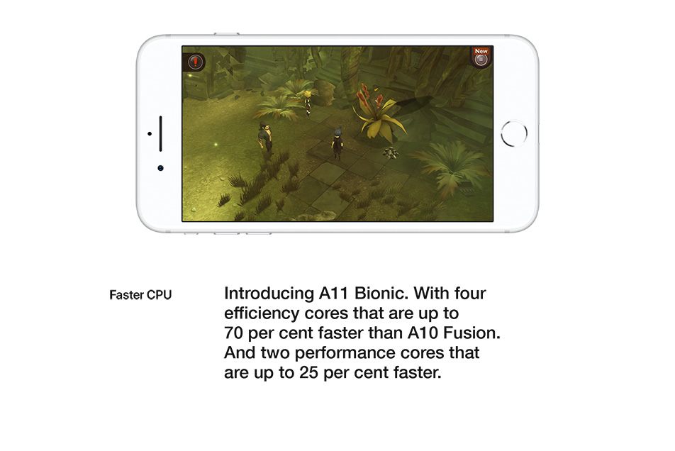 iPhone 8 - A11 Bionic - Faster CPU