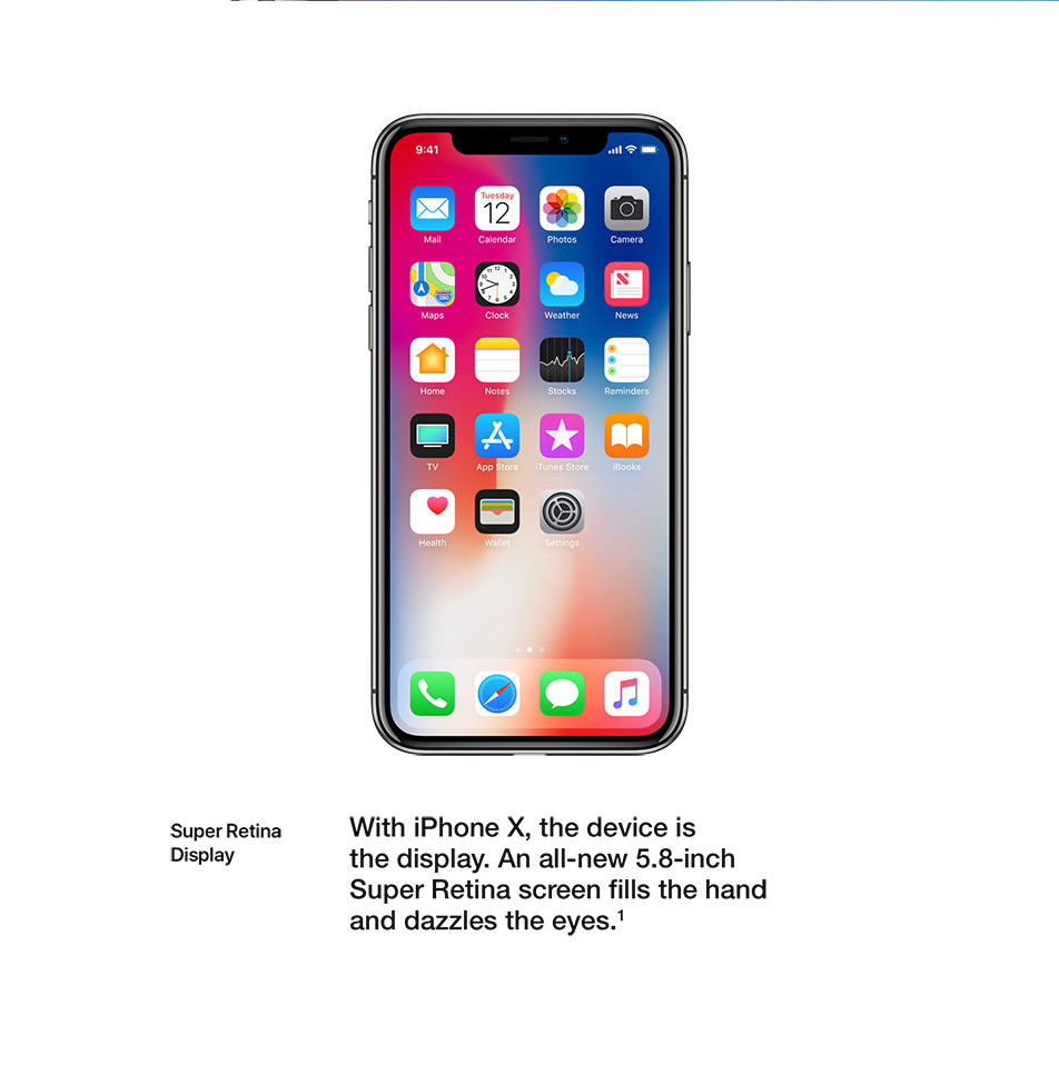 iPhone X - Display - Super Retina Display