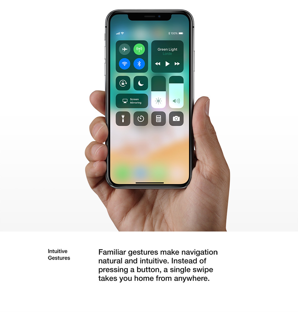 iPhone X - Design - Intuitive Gestures