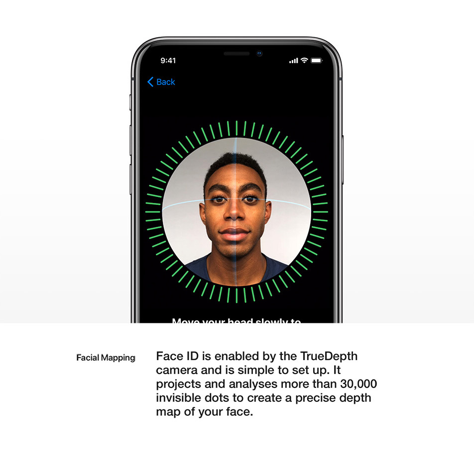 iPhone X - Face ID - Facial Mapping