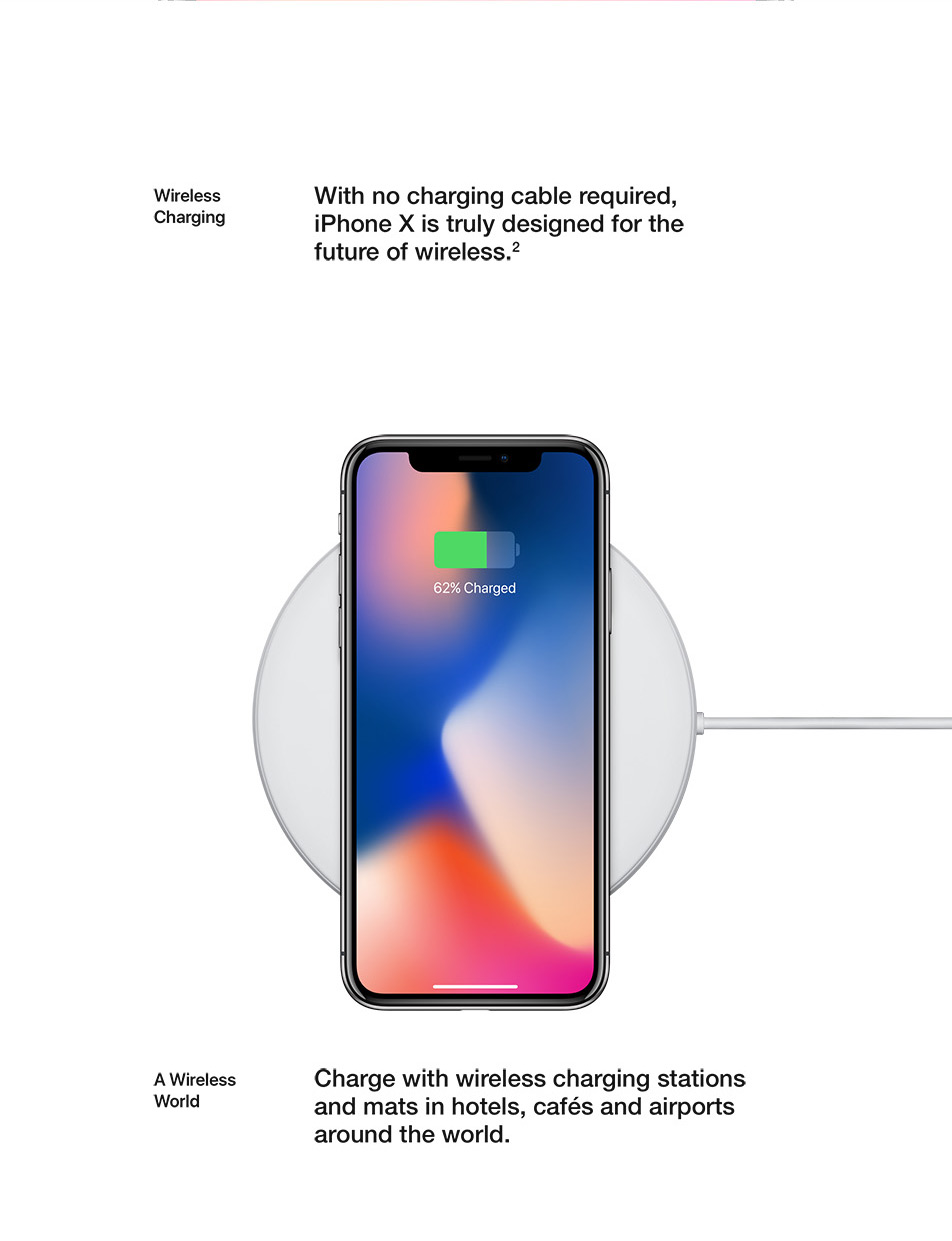 iPhone X - Wireless Charging - No charging cable required