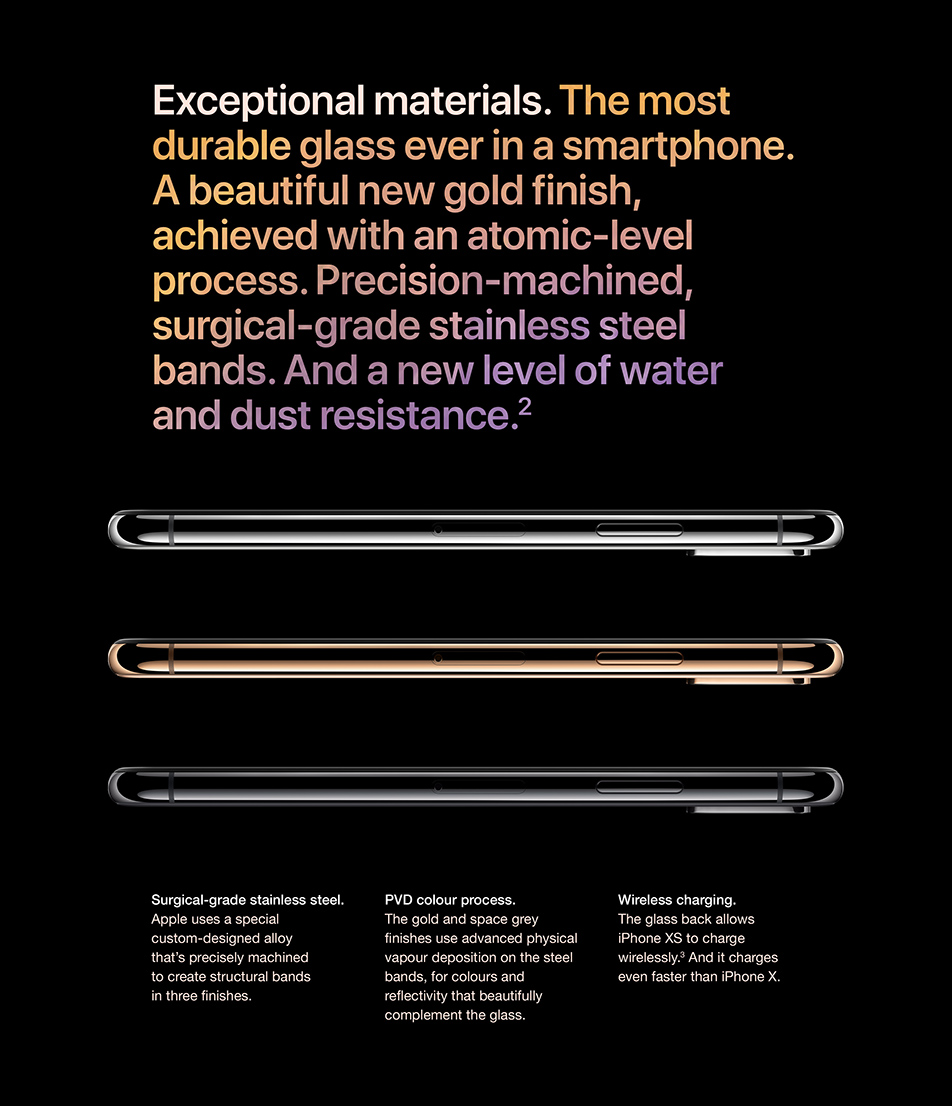 iPhone Xs - Exceptional materials