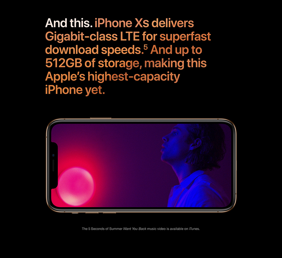 iPhone Xs - LTE download speeds