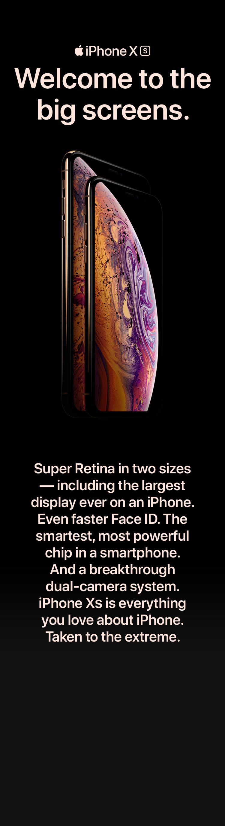 iPhone Xs - Welcome to the big screens