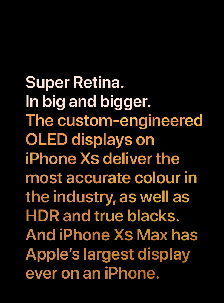 iPhone Xs - Super Retina