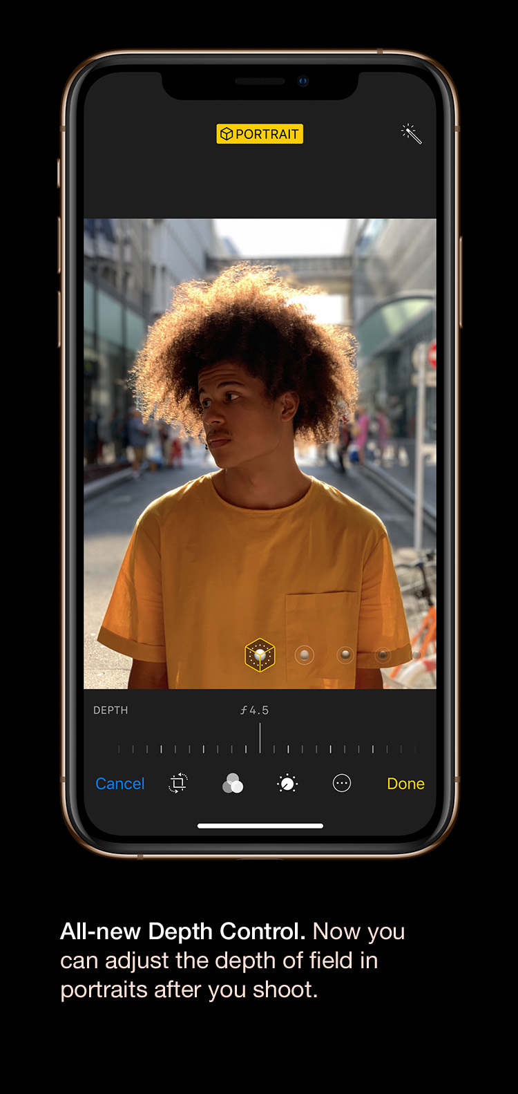 iPhone Xs - All-new depth control