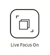 Live focus on icon