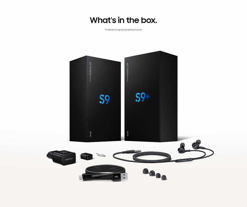 Galaxy S9 - What's in the box.