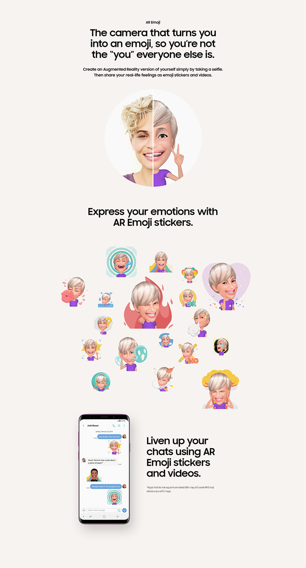 Galaxy S9 - Revolutionary Camera - The camera that turns you into an emoji.