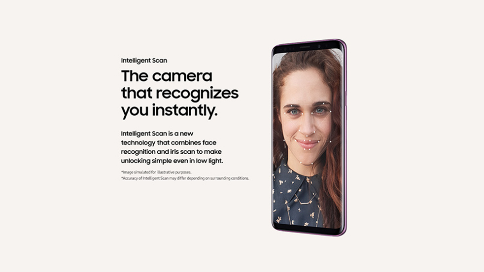 Galaxy S9 - Revolutionary Camera - The camera that recognises you instantly.