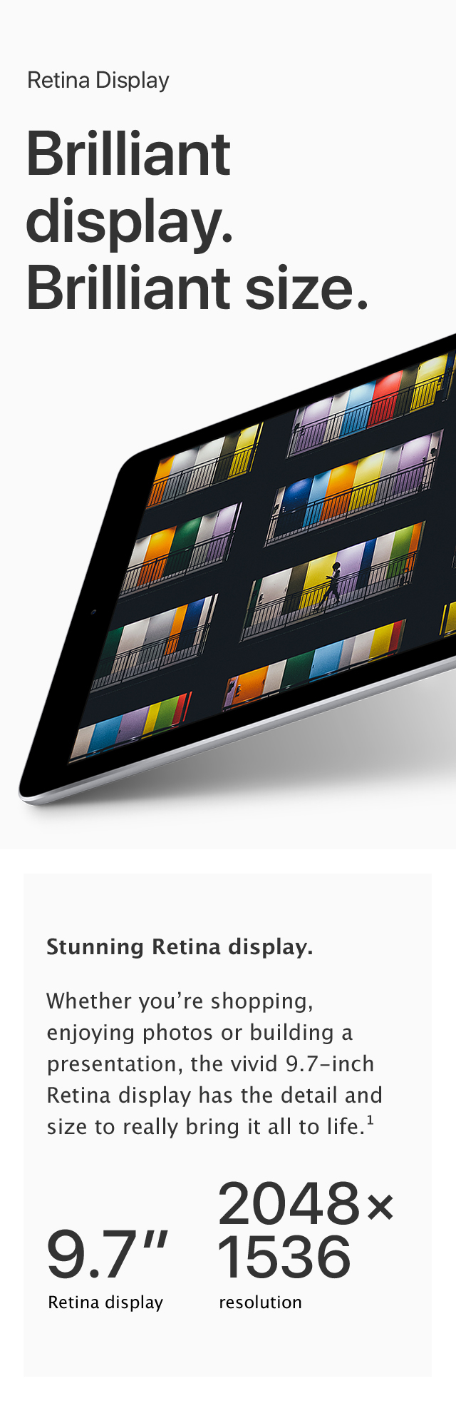 iPad - Brilliant display. Brilliant size.
