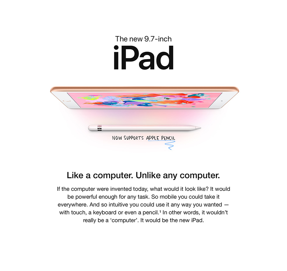 iPad - Like a computer.Unlike any computer.