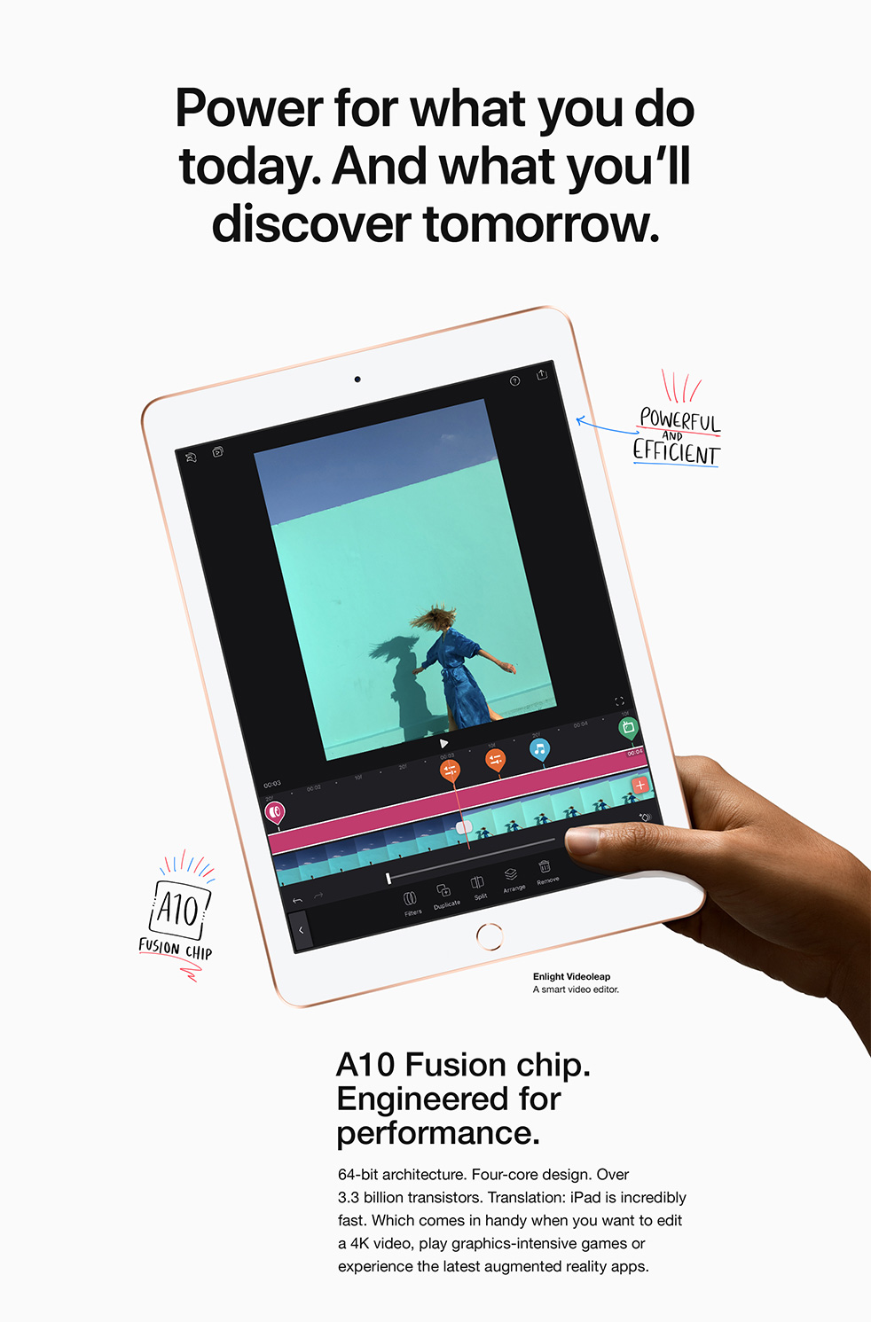 iPad - Power for what you do today. And what you'll discover tomorrow.