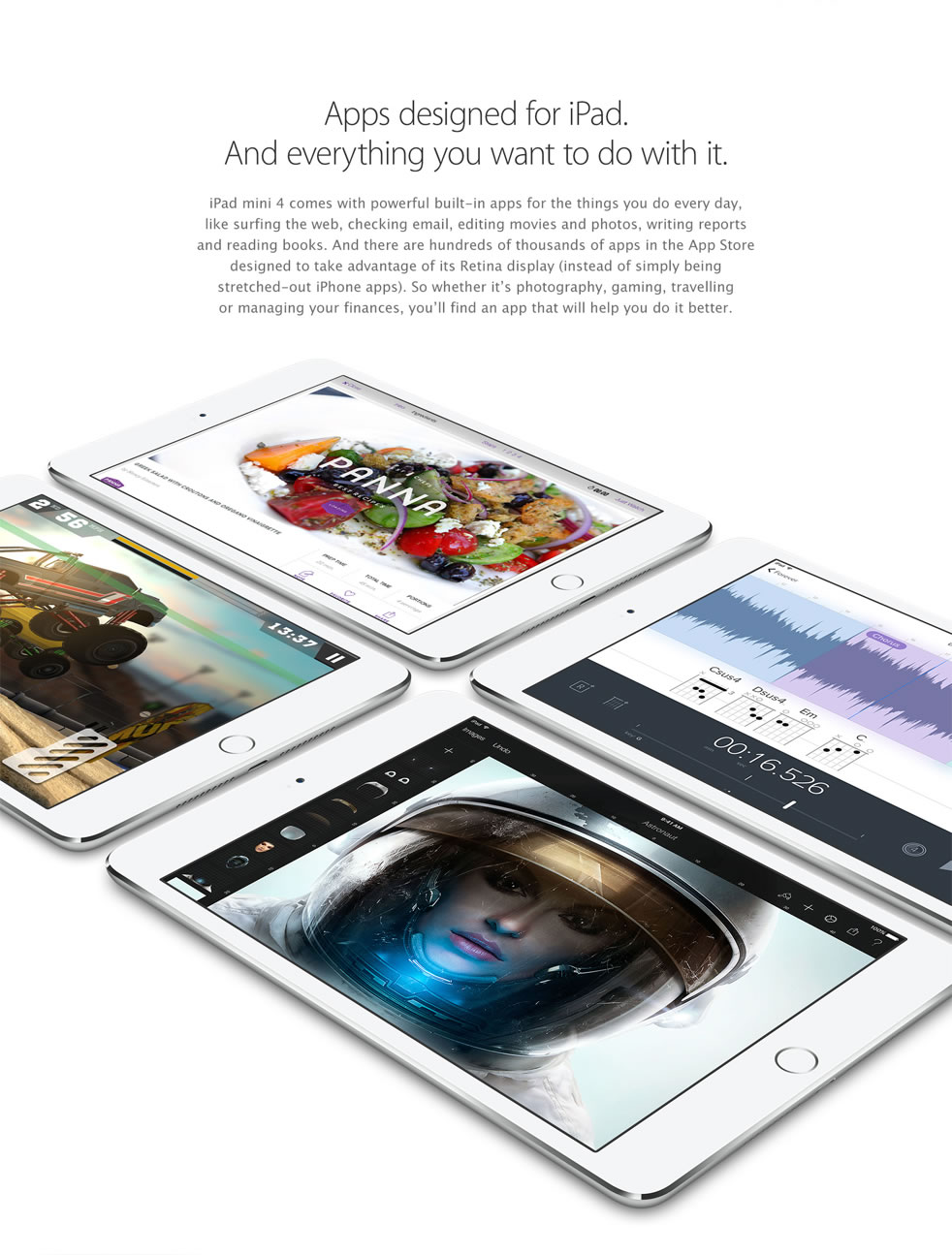 Apps designed for iPad. And everything you want to do with it.