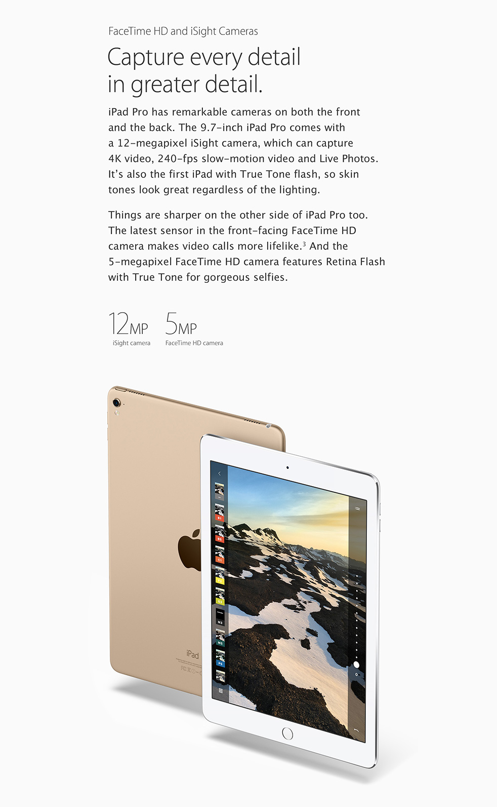 iPad Pro 9.7-inch with FaceTime HD and iSight Camera