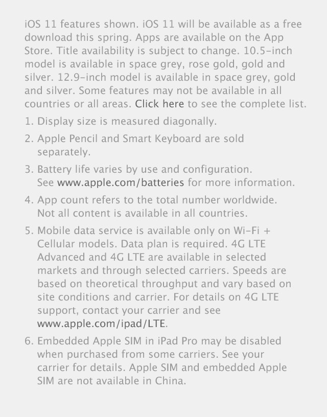 iPad Pro Terms and conditions