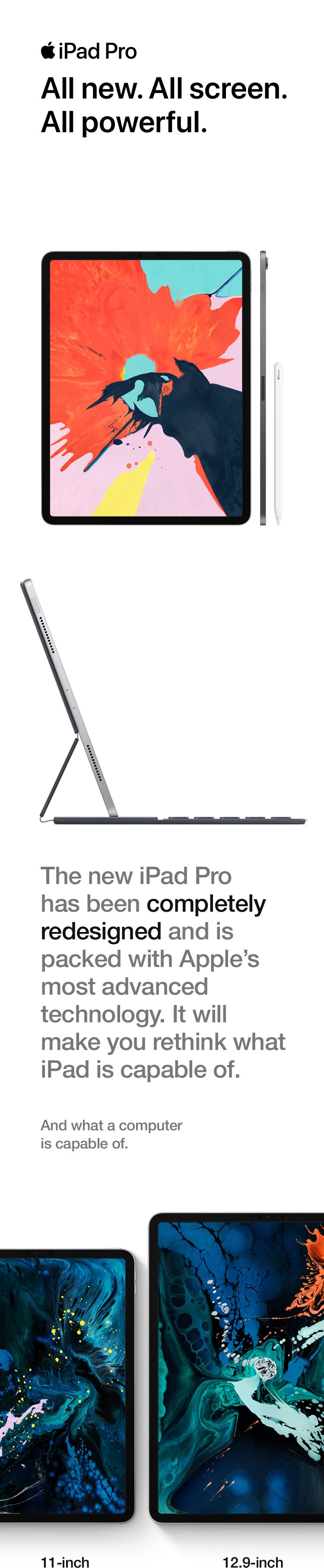 iPad Pro - All new. All screen, All powerful.