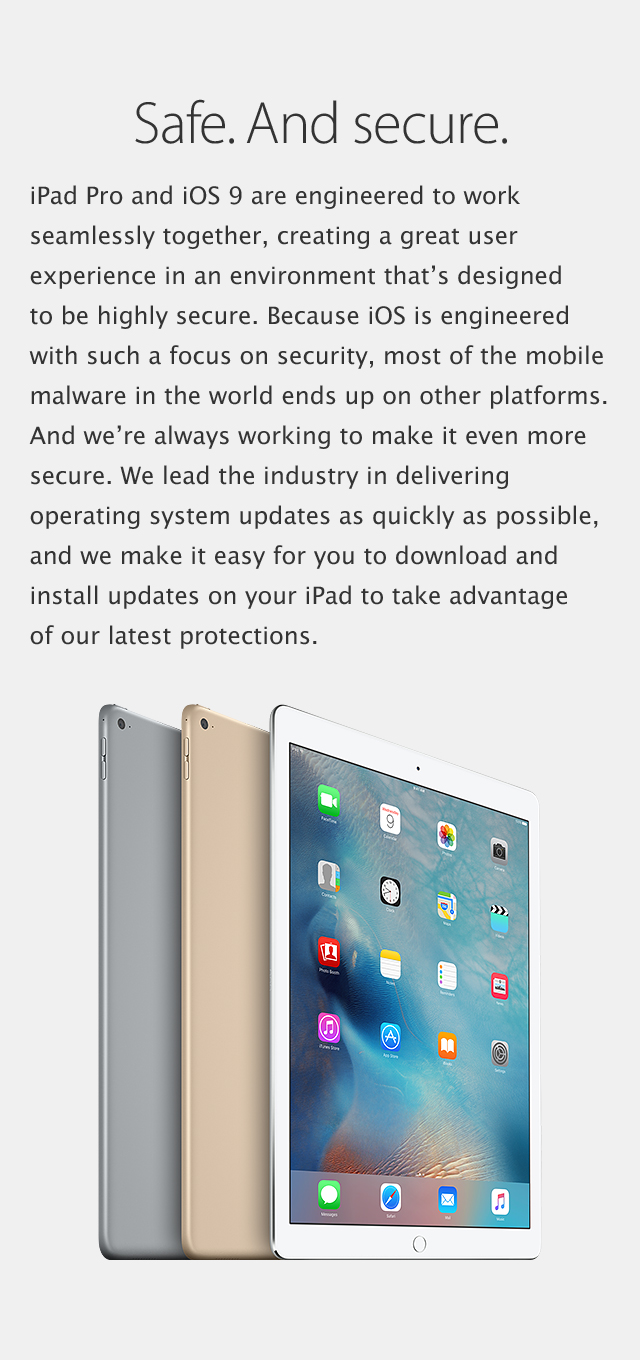 iPad Pro - Safe and Secure.