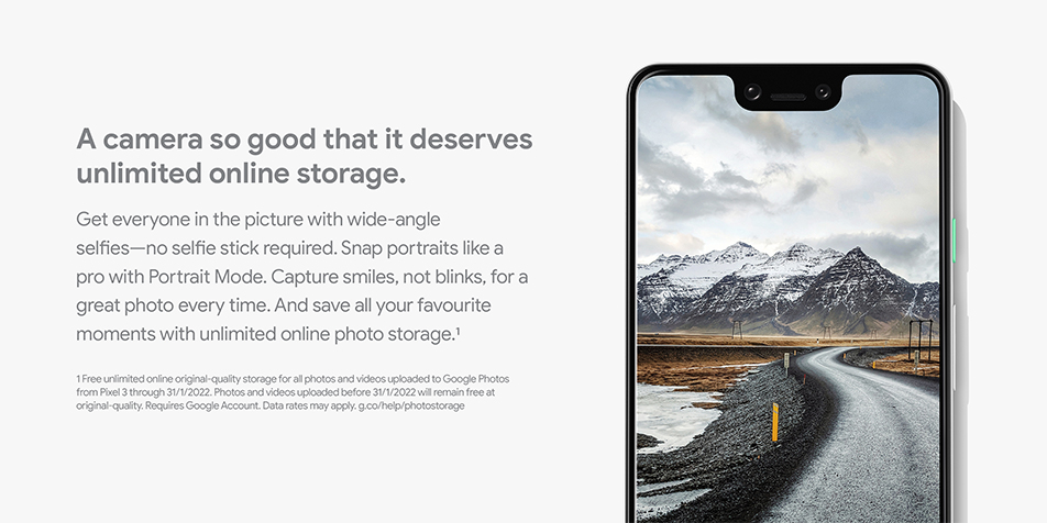 Google Pixel 3 - A camera so good it deserves unlimited storage