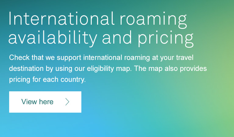 International roaming pricing & availability