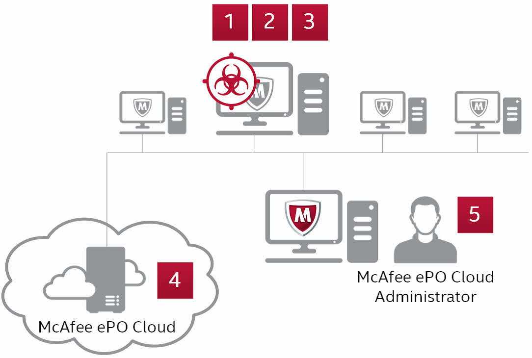 McAfee Endpoint Protection Essential processes used to stop an attack