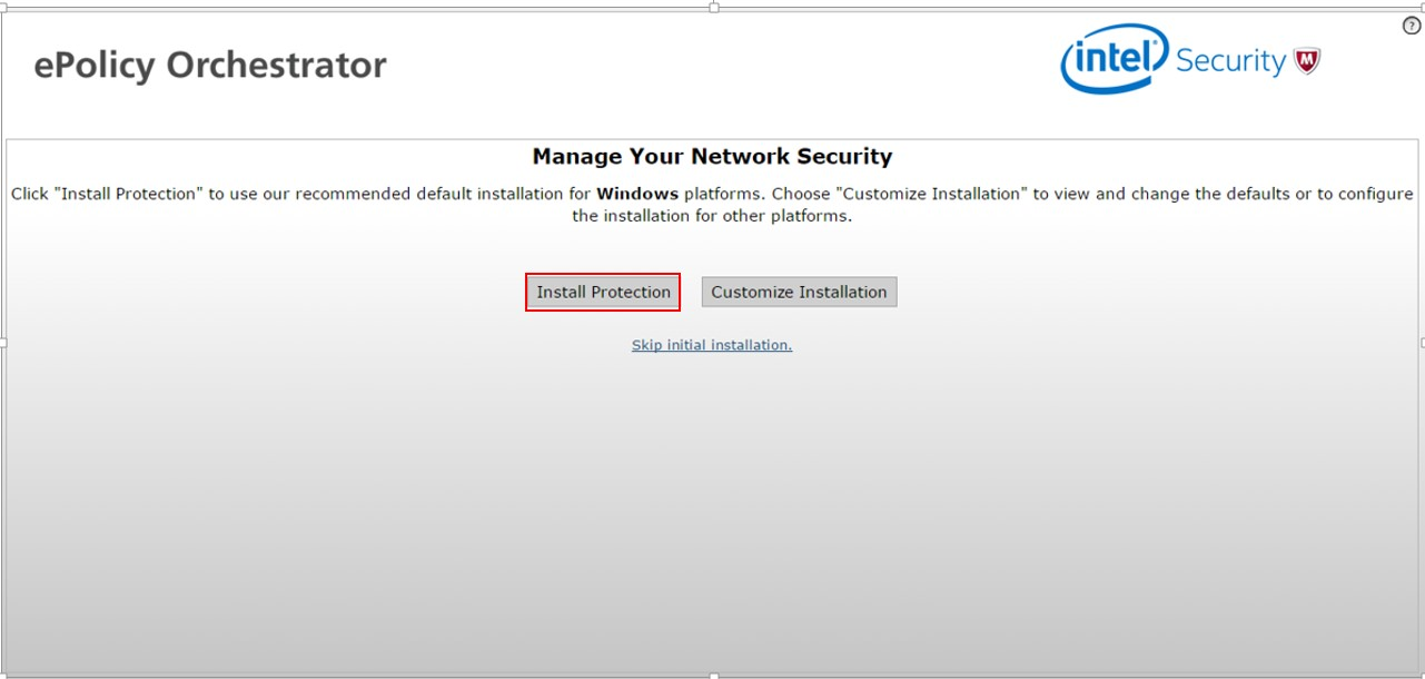McAfee Endpoint Protection Essential - manage your security network