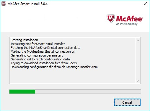 McAfee Endpoint Protection Essential - do not reboot