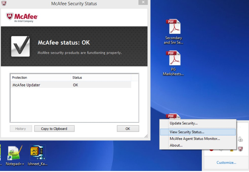 McAfee Endpoint Protection Essential - verify installation